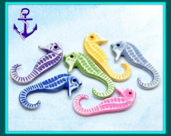 Seahorse charms multicolors
