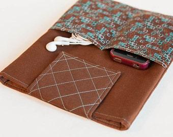 Brown iPad Case - iPad Sleeve - iPad 1 2 3 4 Case