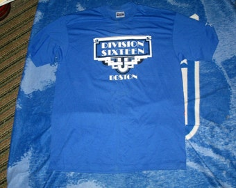 Vintage Boston Division Sixteen t shirt Hanes Fifty Fifty Label Large