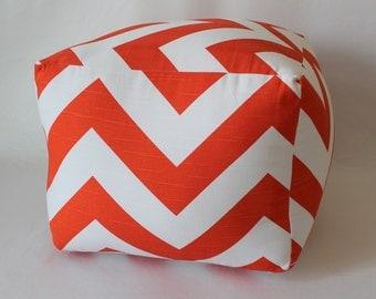 More Colors - Cube Pouf Floor Pillow Zippy Zig Zag Chevron
