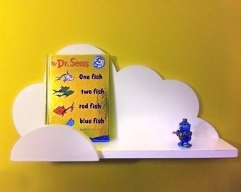 Cloud Wall Shelf White Children Nursery Room Decor