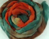 handpainted wool roving / SANTA FE / 100% BFL / 4 ounces