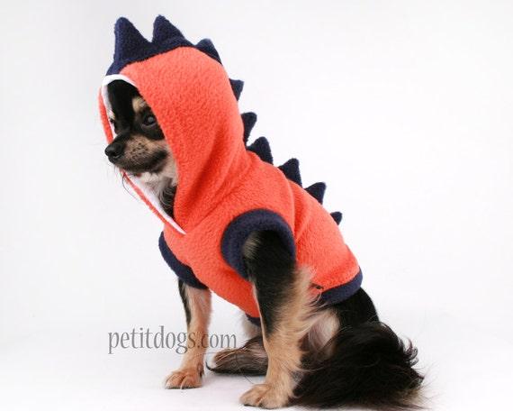 Items Similar To Dog Costume Dinosaur Spikes Orange Fleece