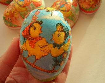 Paper Mache Eggs, Easter Decor Eggs, Made in West Germany