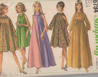 1966 Misses' Dress Simplicity 6794 Size 14 Bust 34
