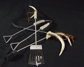 Antler Handled BBQ Tools