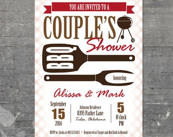 Printable Bridal Shower - BBQ Couple's Shower
