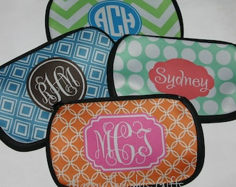 Personalized Pencil Bag - Monogrammed Pen Pencil Bag - Monogram Gift - Personalized Gift for Women - Choose your Design and Colors