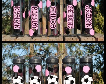 Awesome Custom/Personalized Water Bottles for Sports Soccer Baseball Football Basketball