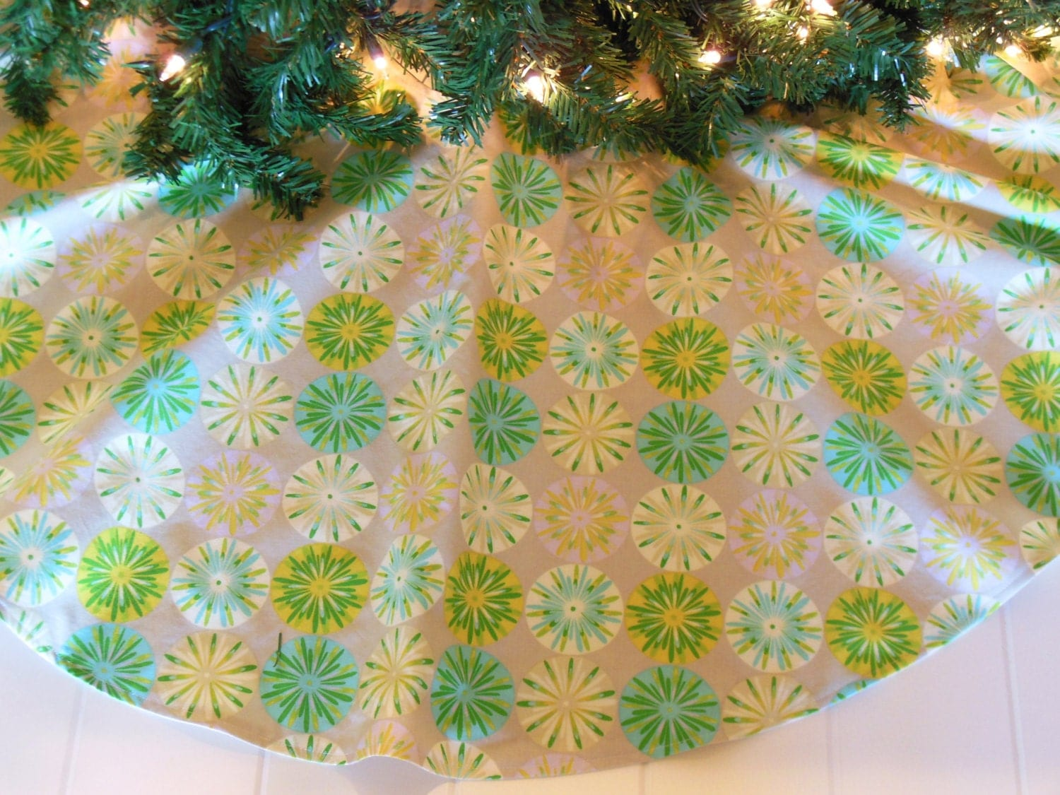 Tropical Christmas Tree Skirt