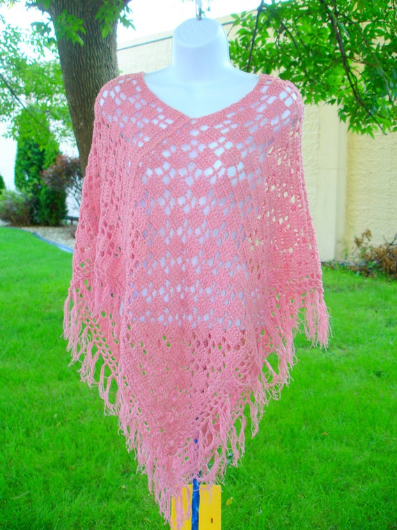Knitting Poncho With Two Rectangles : Poncho crochet two rectangle easy pattern by toppytoppyknits