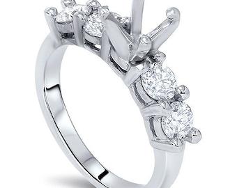 Diamond 1.60CT 14K Semi Mount Engagement Ring Setting