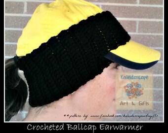 PATTERN CROCHET Ballcap Earwarmer(Toddler-Adult)
