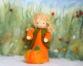 Made to Order: pumpkin child  for your nature table / harvest time waldorf