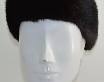 Mahogany Mink Fur Headband new made in the usa