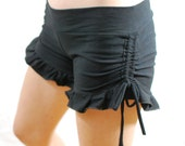 Cotton Lycra, Ruffle, Side Synch, Yoga Shorts, Bloomer Shorts, Choose your color