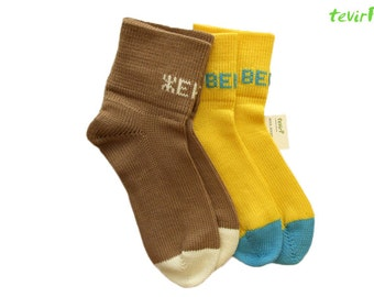 Socks - all adult sizes - PERSONALIZED 100% merino wool unisex men women knitted