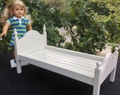 """American Girl Doll: Furniture White 'Lil Elena bed for 18"""" doll"""