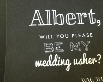 Will You Be My Wedding Usher Card
