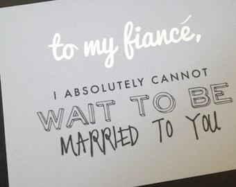 To My Fiance Wedding Card