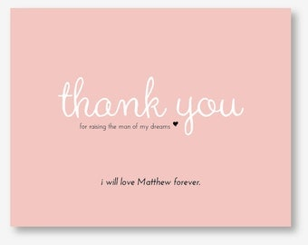 Thank You Mother in Law Customized Card