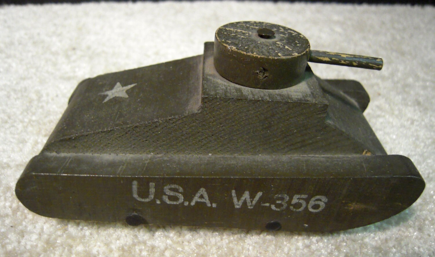Vintage wood toy army tank usa w 356 by mimaleslie on etsy