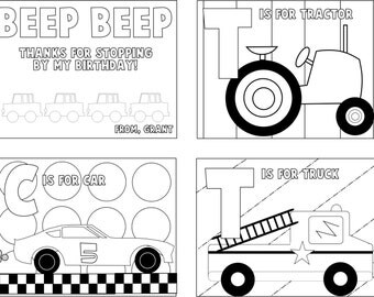 Personalized cars and trucks Coloring Books