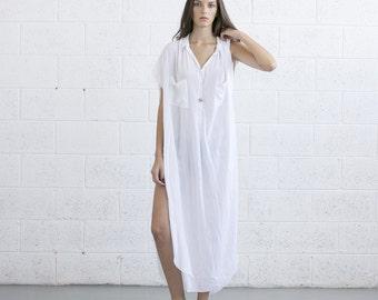 Long White Kaftan Dress