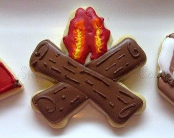 Camping Themed Cookies 2 dozen