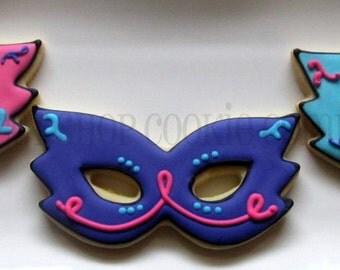 Masquerade Mask Cookies 2 dozen