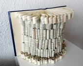 "Book Art Sculpture ""Silk dress"""