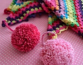 Crochet rainbow scarf  - crochet digital patter, beginner friendly, DIY, PDF