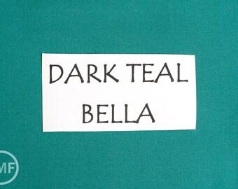 One Yard Dark Teal Bella Cotton Solid Fabric from Moda, 9900 110