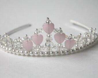 Pink Hearts and Crystal Princess Tiara