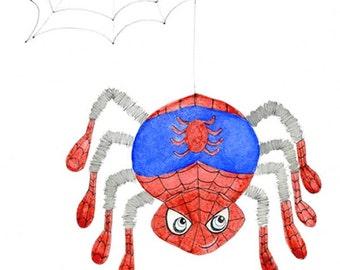 Kids Wall Art, Kids Art,  Spiderman - Spider Print - Limited Edition 8x10 Print by Jennie Deane