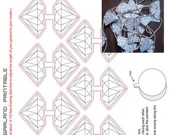 New// DIY Diamond Garland Printable
