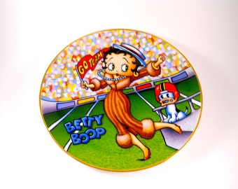 Betty Boop Collector's Plate Homecoming Queen King Features number E1282