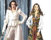 Fantasy High Collar Maxi Coat Pattern McCalls 6819 (Womens sizes 14-16-18-20-22)