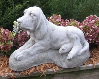Concrete Bloodhound Statue or Garden Memorial