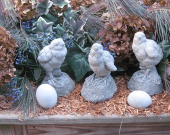 Concrete Garden Chicks Set of Three