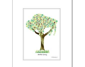 "Spring Buffalo Tree - 8""x10"" White Matt"