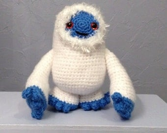 Snow Monster Amigurumi - Hand Crocheted - made to order