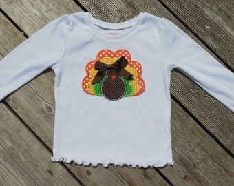 Girl's Toddlers Thanksgiving Turkey Shirt - personalized