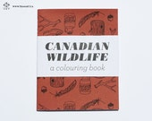 Canadian Wildlife - A Mini Colouring Book - 4 x 5 in
