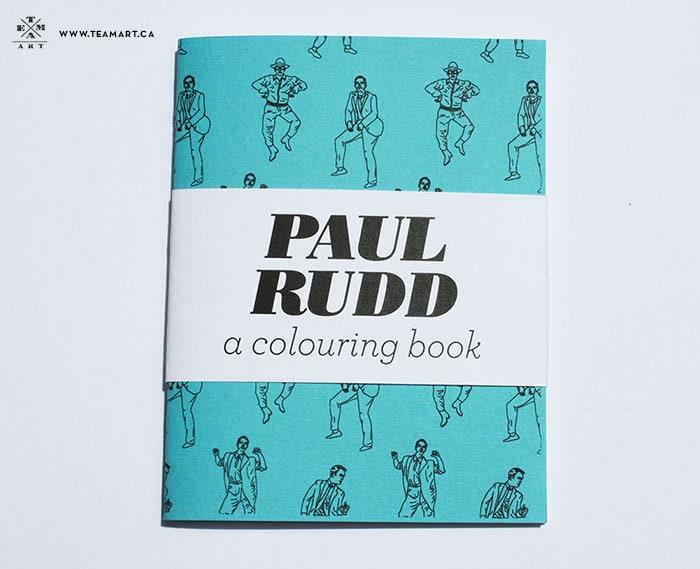 Paul Rudd A Mini Colouring Book 4 x 5 in