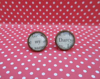 Antiqued Bronze P&P Stud Earrings (My /  Darcy)