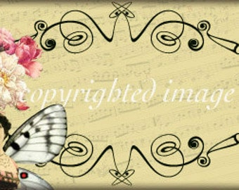 Digital Collage Fairy Business Card Instant Download