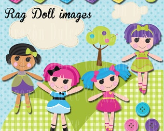 Rag doll clipart set -Personal and Commercial Use -INSTANT DOWNLOAD -
