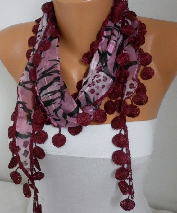 Summer Burgundy Leopard Cotton Scarf Zebra Scarf Graduation Gift Shawl Scarf  Gift Ideas For Her Women Fashion Accessories best selling item