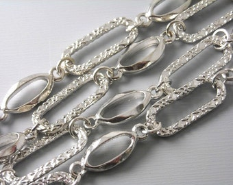 CHAIN-AS-A-21MM - 3-Foot Handmade Large Link Antique Silver Chain
